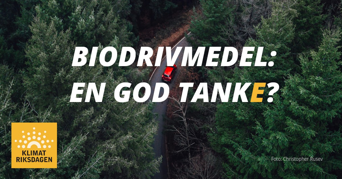 Biodrivmedel - En god tanke?